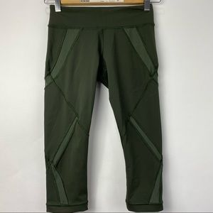 Lululemon Cool to Street mesh army green crops